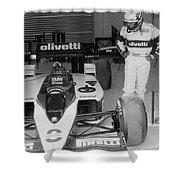 Riccardo Patrese. 1986 Spanish Grand Prix Shower Curtain