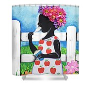 Rice Cream Girl Shower Curtain