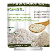 Rice Protein And Arsenic Shower Curtain