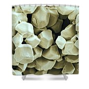 Rice Starch Granules Shower Curtain
