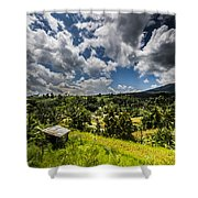 Rice Terrace Shower Curtain