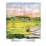Ricefield Terrace Shower Curtain