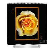 Rich And Dreamy Yellow Rose  With Design Shower Curtain