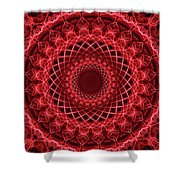 Rich Red Mandala Shower Curtain