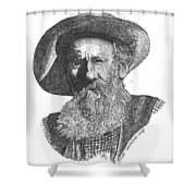 Richard Beaver Dick Liegh Shower Curtain