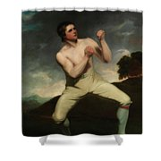 Richard Humphreys, The Boxer                                     Shower Curtain
