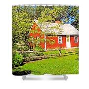 Richard Hunnewell House, Scarborough Maine Shower Curtain