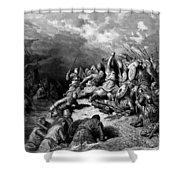 Richard I The Lionheart Delivering Jaffa 1877 Shower Curtain