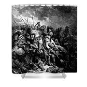 Richard I The Lionheart In Battle At Arsuf In 1191 1877 Shower Curtain