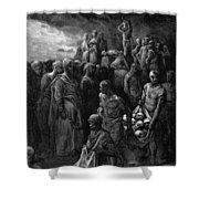 Richard I The Lionheart Massacres Captives In Reprisal 1877 Shower Curtain