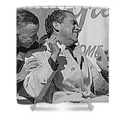Richard Nixon Laughing Shower Curtain