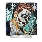 Richie Valens Day Of The Dead Shower Curtain