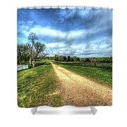 Richmond-lynchburg Stage Road, Appomattox, Virginia Shower Curtain