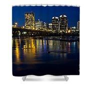 Richmond Night Skyline Shower Curtain