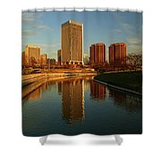 Richmond Skyline And Canal Shower Curtain
