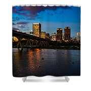 Richmond Skyline At Night Shower Curtain