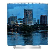 Richmond Skyline At Nightfall 11908t Shower Curtain