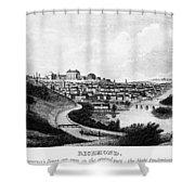 Richmond, Virginia, 1856 Shower Curtain