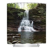 Ricketts Glen Waterfall Shower Curtain