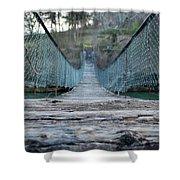 Rickety Bridge Shower Curtain