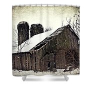 Rickety Old Barn Shower Curtain by Stephanie Calhoun