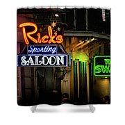Ricks Sporting Saloon Shower Curtain