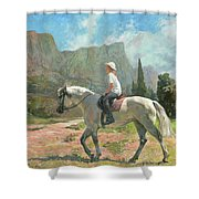 Riding Shower Curtain