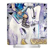 Ride Of The Gladiator Shower Curtain