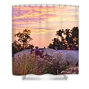 Ride Off Into The Sunset Shower Curtain
