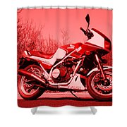 Ride Red Shower Curtain