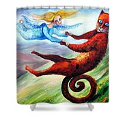 Ride The Tail Shower Curtain