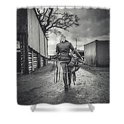 Ride Time Shower Curtain