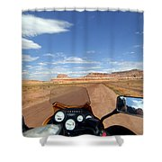 Ride To Little Wild Horse Slot Canyon Shower Curtain