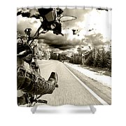 Ride To Live Shower Curtain by Micah May