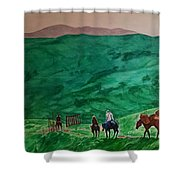 Riders In The Andes Shower Curtain