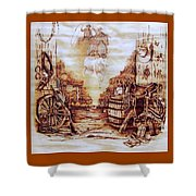 Riders In The Sky Shower Curtain