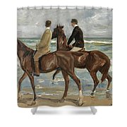 Riders On The Beach Shower Curtain
