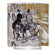 Riders On The Way To The Bois Du Bolougne Shower Curtain