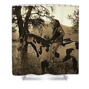 Rides His Horse 3 Shower Curtain