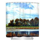 Ridgefield Refuge Early Fall Shower Curtain