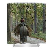 Riding An Elephant Shower Curtain