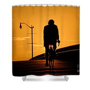 Riding At Sunset Shower Curtain