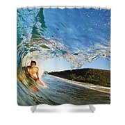 Riding Barrel At Makena Shower Curtain