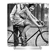 Riding Bike Makes Sexy Shower Curtain