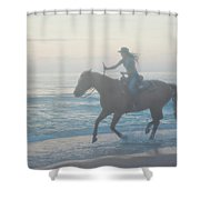 Riding Free Shower Curtain