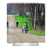 Riding Home Shower Curtain