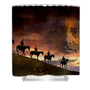Riding Into Eternity Shower Curtain