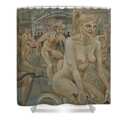 Riding Passed Burlington Arcade In June Shower Curtain