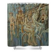 Riding Passed Le Meridien In June Shower Curtain