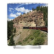 Riding The Cumbres And Toltec Shower Curtain